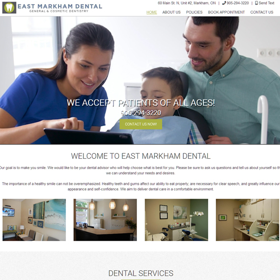 eastmarkhamdental.com